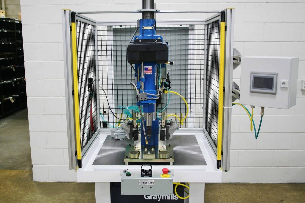Lead Screw Tapping Machine With Part Presence Sensors