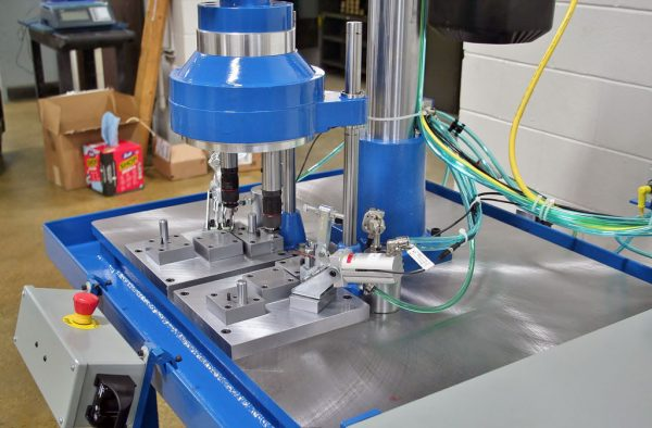 Fixed Position Drill & Tap Head - Hypneumat 2 Spindle Head And Fixture